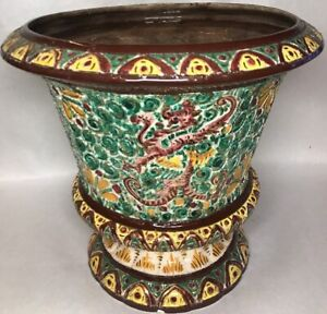 Rare-Tres-Grand-Vase-Cache-pot-MASSE-FRERES-DESVRES-Decor-Scarifie-1
