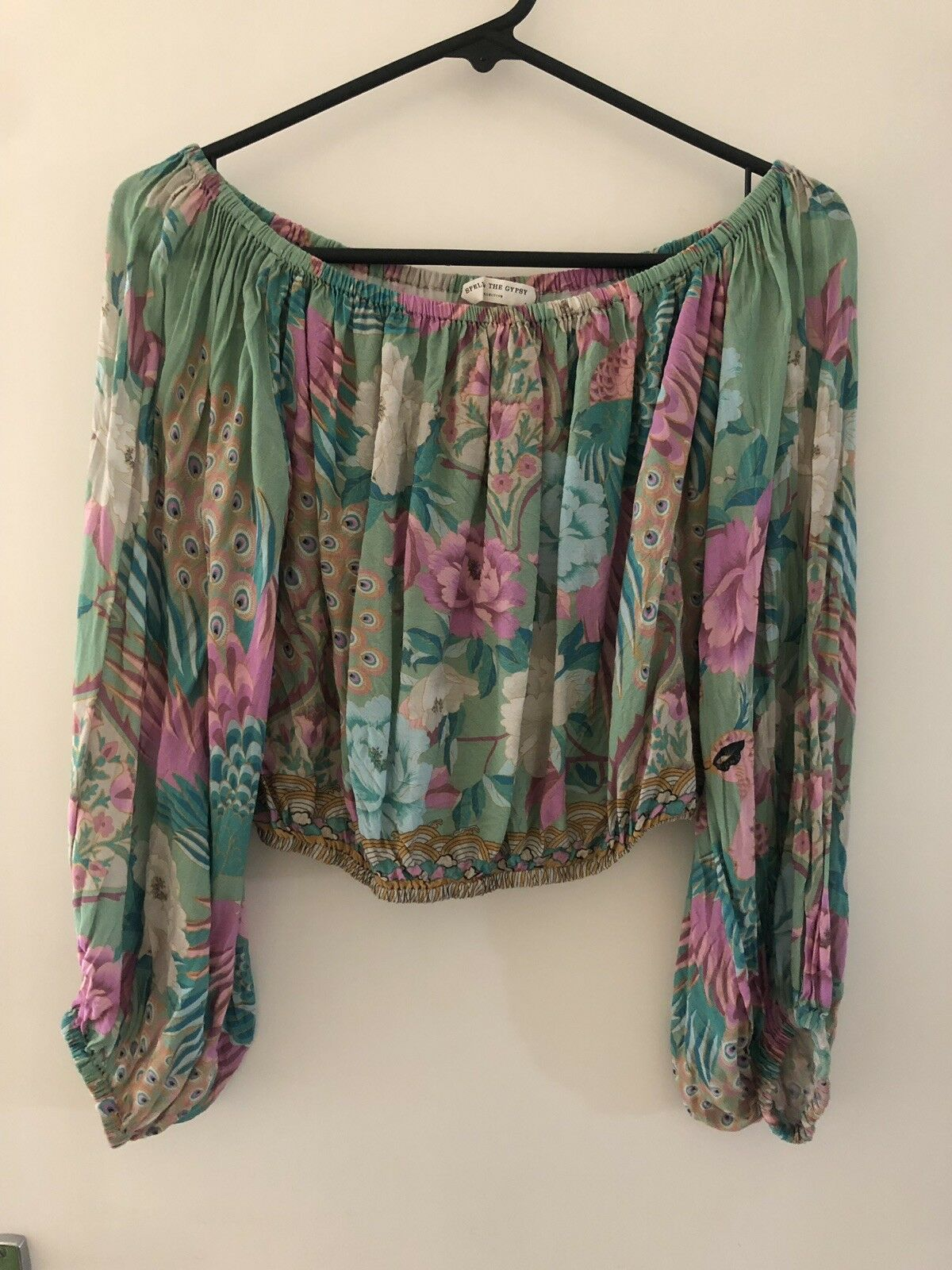 Spell And The Gypsy Cloud Dancer Crop Blouse Top Small Worn Once