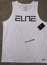 NWT Nike Dri Fit Elite Basketball Tank Top Sz L 100% Authentic White 744290 100