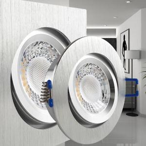 Top LED Einbaustrahler Alu flach Einbauleuchte geringe Einbautiefe ab IW89