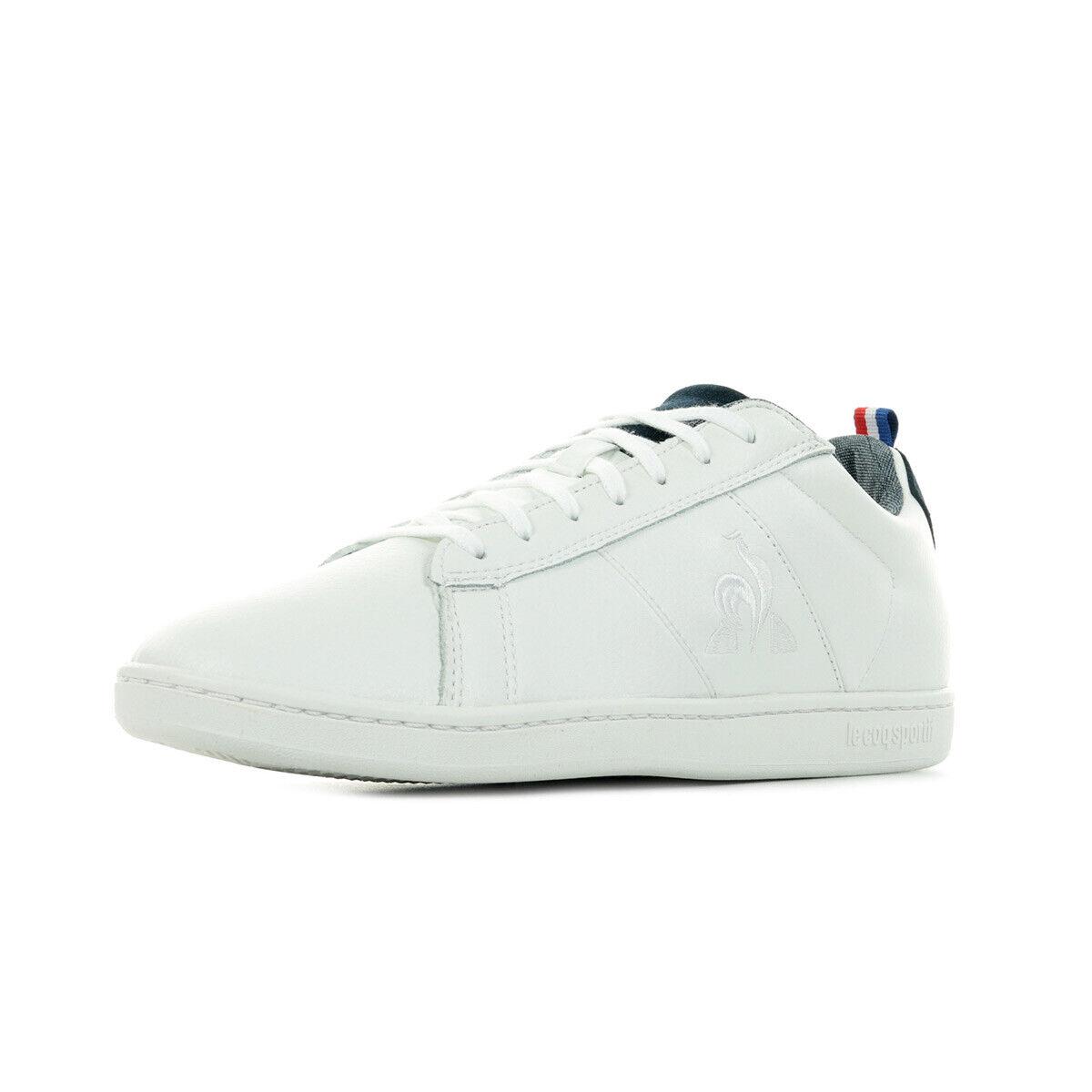 Schuhe Le Coq Sportif Herren Court Classic Denim weiß