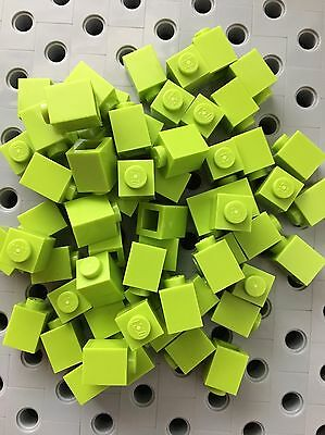 100 New Lego Finishing Smooth Tiles Lime Green 1x2 Bricks Friends Roof Floor