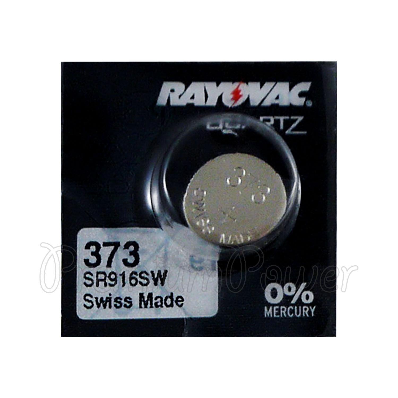 1 x Rayovac 373 battery Silver Oxide 1.55V SR916SW SR68 V373 Watches Swiss