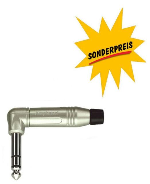 Winkel-Klinkenstecker 6,3mm stereo Amphenol symetrischer Klinkestecker ACPS-RN