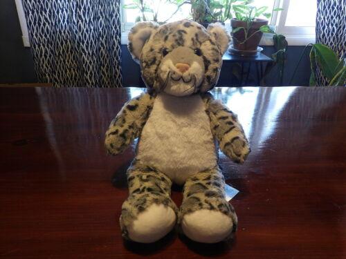 "HTF 16/"" Build A Bear Workshop Snow Leopard BAB Paw Gray /& White *11b//*11"
