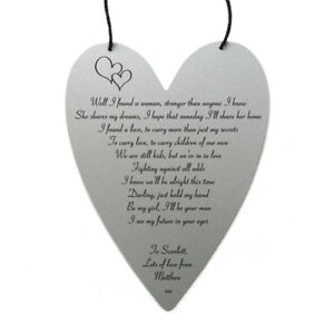 Ed sheeran perfect lyrics personalised on metal wall hanging image is loading ed sheeran perfect lyrics personalised on metal wall stopboris Image collections