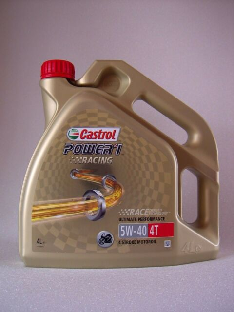 Castrol Power 1 Racing 5W40 4T Motorcycle Oil Part Synthetic 4 LITRE Litre