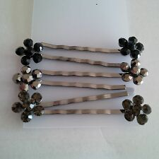 Bobby Pins- Studded Flower