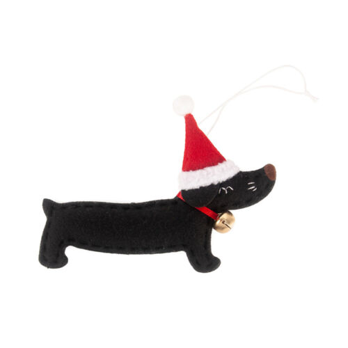 Small Dachshund Dog Christmas Tree Hanging Pendant Ornaments Xmas Holiday Decor