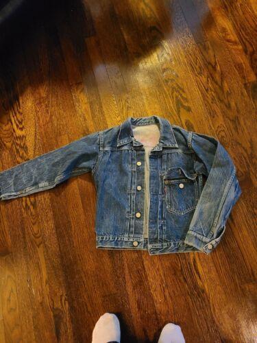 Rare 1940s Type 1 Levi Big E Selvedge Denim Jacket