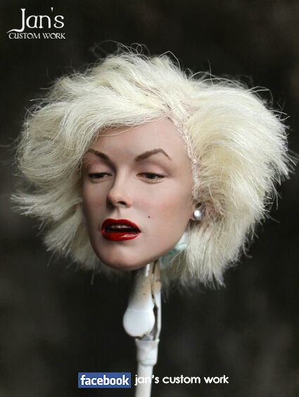 1 6 CUSTOM Marilyn Monroe hot toys figure head female phicen blitzway kumik dx