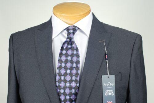 48R SAVILE ROW Black /& Silver SUIT SEPARATE  48 Regular Mens Suits SS38