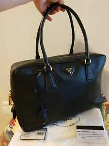 Original-Prada-Black-Portafoglio-Portamon-Saffiano-LUX-Leather-Galleria-Bag-Tote