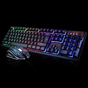 Wired Gaming Keyboard And Mouse Set LED Colorful Changing