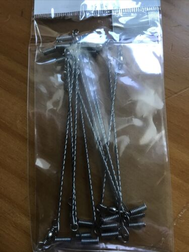 boom sea fishing Twisted wire 4 in 100mm with swivel pack of 10