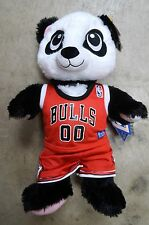 "BUILD-A-BEAR CHICAGO BULLS NBA BASKETBALL JERSEY STUFFED 18"" HARAJUKU PANDA BEAR"