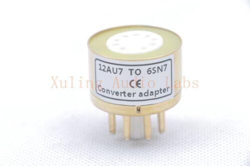 2pc Gold plated 12AU7 12AX7 TO 6SN7GT B65 6SL7 6N9P tube converter adapter