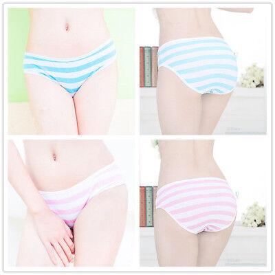 Harajuku Lolita Pink Blue Stripe Panties Girl Underwear Intimate Cosplay Anime