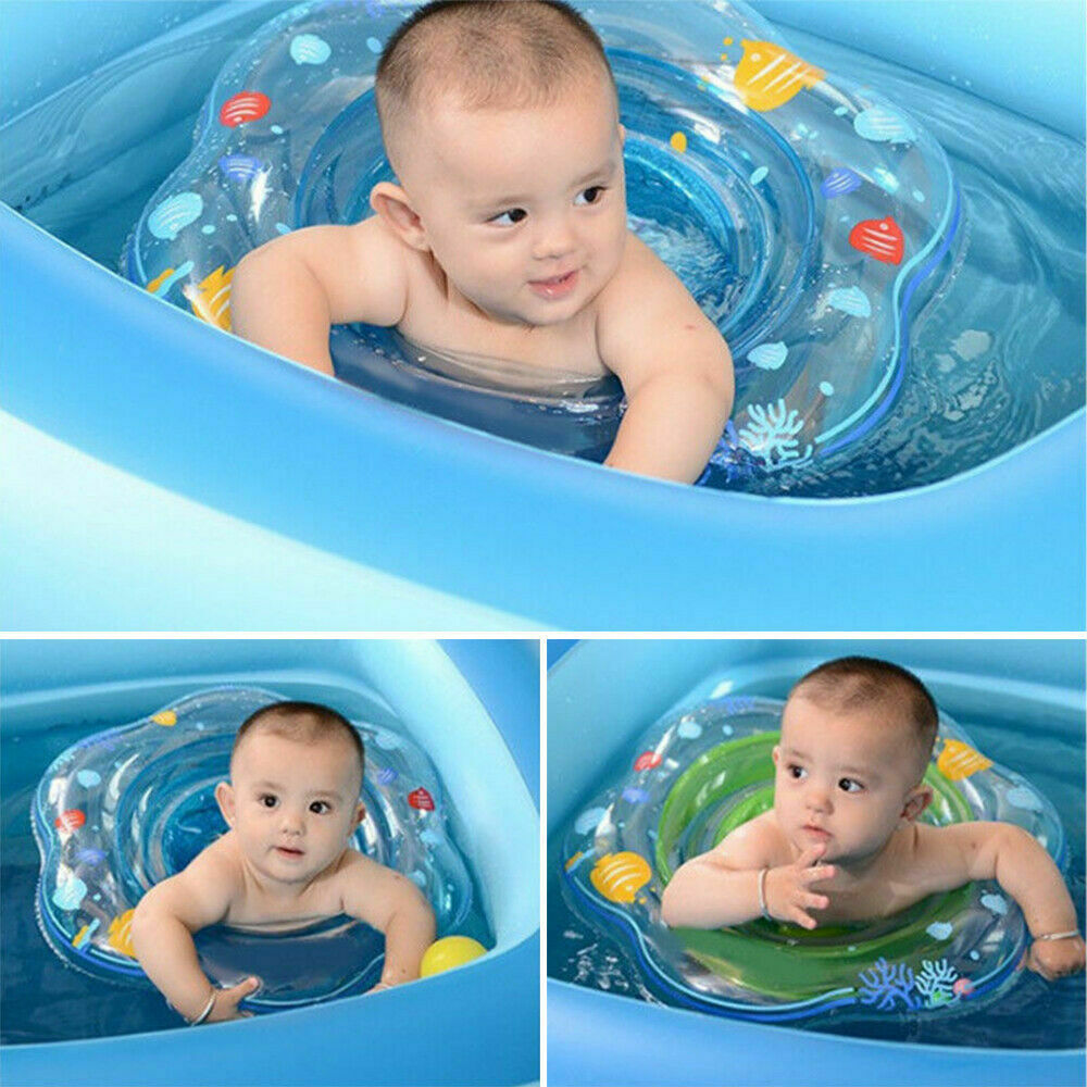 Kids Baby Swimming Ring Aid Toys Inflatable Float Pink Blue Swimming Pool Ring