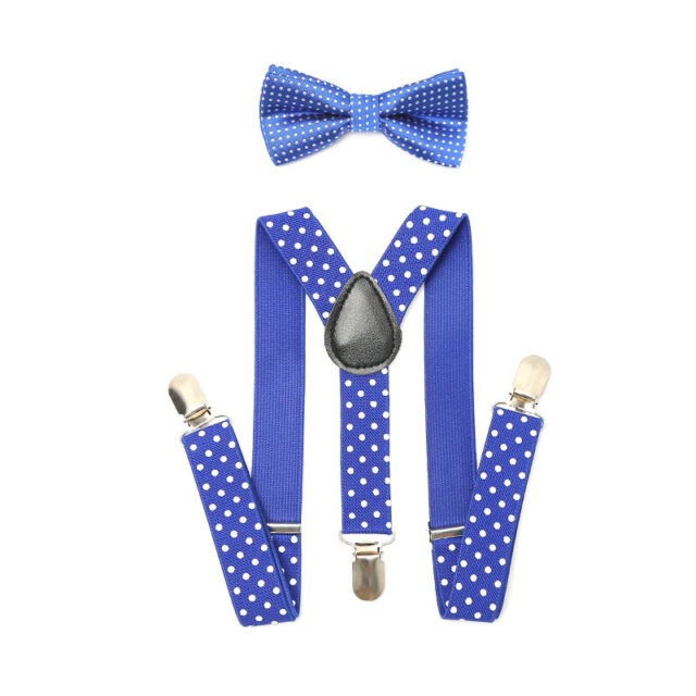 "Men /& Women Combo 1/""in Suspender /& Bow Tie Rainbow color Party Accessories"