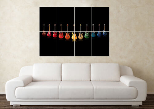 Large Guitar Fender Gibson Telecaster Stratocaster Wall Poster Art Picture Print