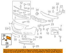 Buick GM OEM Front Bumper Grille Grill-License Bracket Mount Panel 22743708