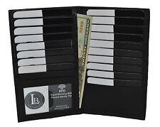 New RFID Blocking Premium Genuine Leather Bifold Credit Card ID Holder