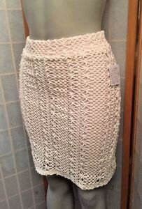 70c4c71a6c91 Free People Daisy Crochet Lace Pin Up Pencil Skirt Ivory Rose Size 2 ...