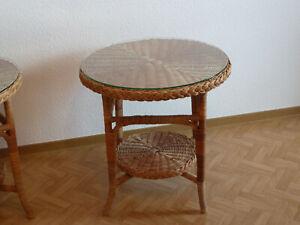 Rattantisch rund, 62,5 cm mit Glasplatte - Pohlheim, Deutschland - Rattantisch rund, 62,5 cm mit Glasplatte - Pohlheim, Deutschland
