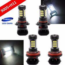 Combo Set H11 9005-HB3 Samsung LED 57 SMD White Headlight Light Bulb Hi/Lo Beam