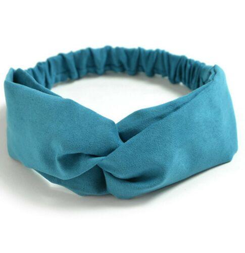 Headbands for Women Flower Printed Criss Cross Elastic Vintage Cute Head Wrap
