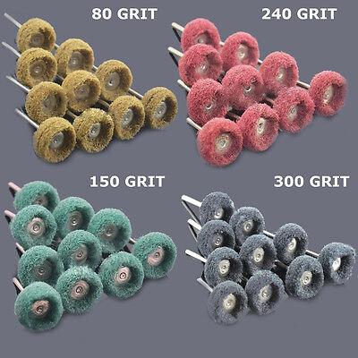 "80 PC 1"" (25mm) Abrasive Wheel Buffing Polishing Wheels fits DREMEL Rotary Tools"