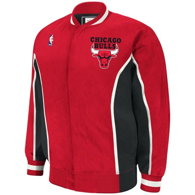 a179ae720c1e4 Chicago Bulls Mitchell & Ness NBA Authentic 92-93 Warmup Snap Front ...
