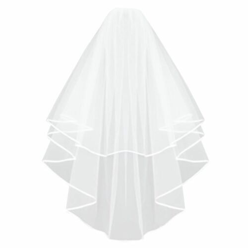 Long White Bridal Veil with Comb Bride to Be Hen Night Wedding Party Fancy Dress