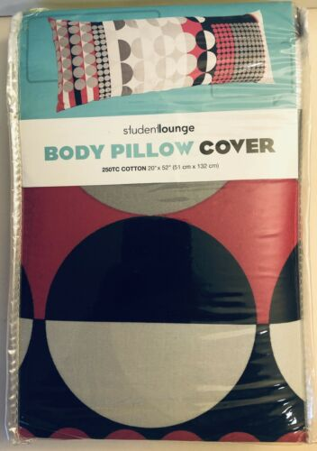 Details about  /Body Pillow Case Soft 250 Thread Count Cotton Student Lounge Kohl's Pink Gray