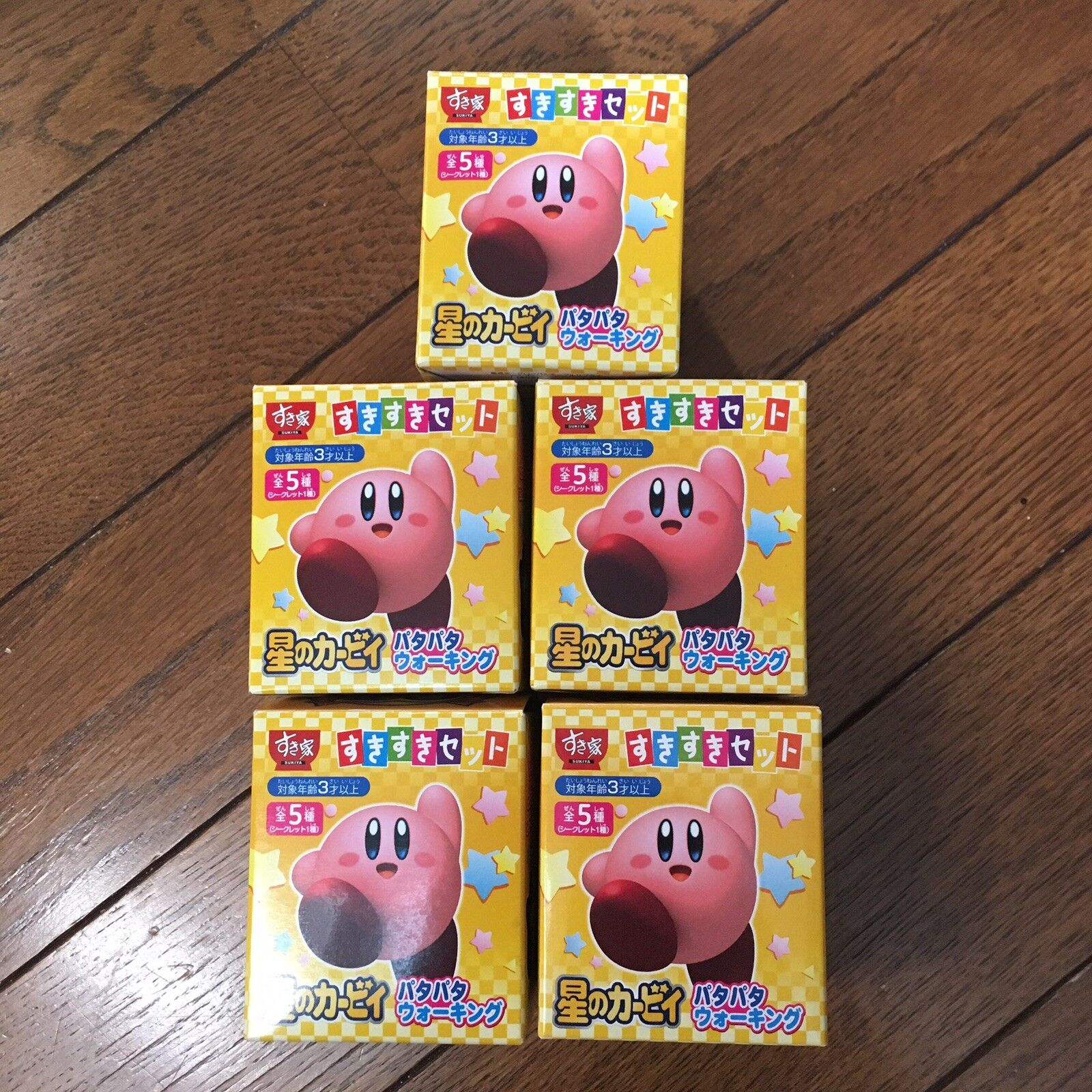 Kirby's adventure Hoshi no Kirby patapata walking toy 5 figures complete set
