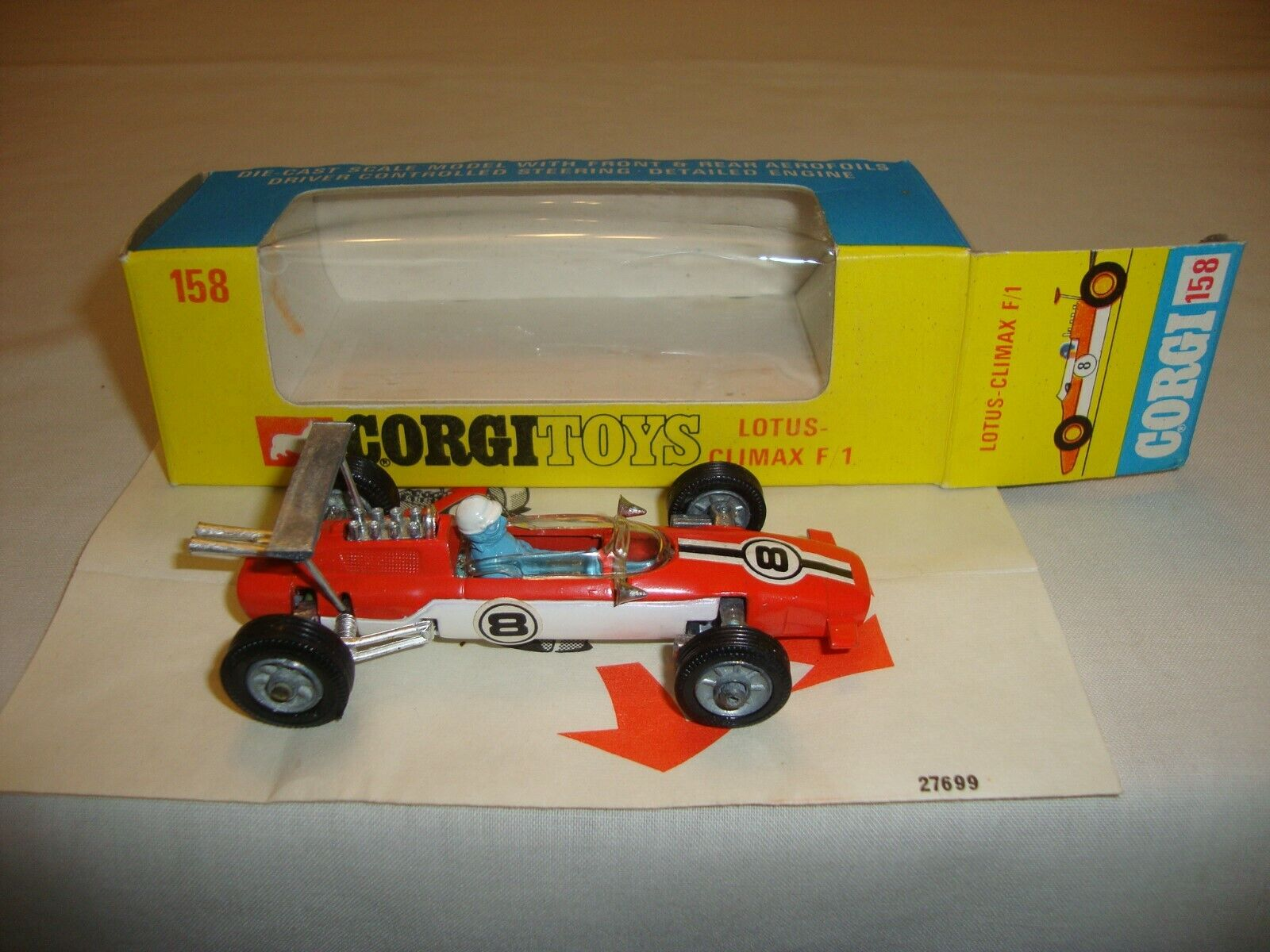 CORGI 158 LOTUS CLIMAX F1 racing voiture-nr Comme neuf  in original box  gros pas cher
