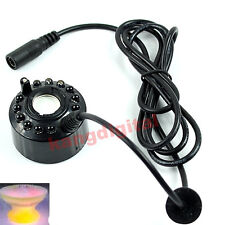 12 LED Ultrasonic Mist Maker Pond Atomizer Air Humidifier Fogger Water Fountain