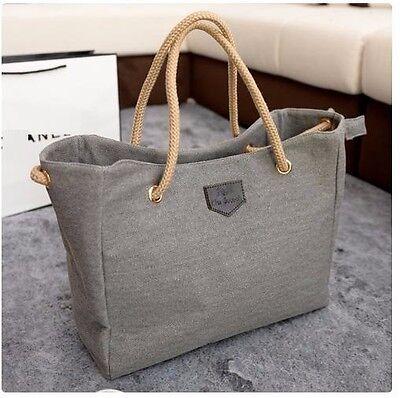 Womens Canvas Shoulder Bag  Satchel Messenger Travel bag Purse Crossbody Shopper