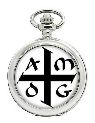 Family-crests.com AMDG ad majorem Dei gloriam Pin Badge