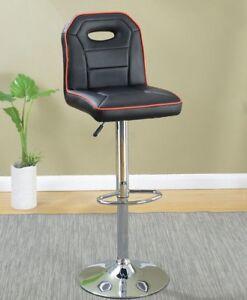 Poundex Earson Sport Car Seat Design Black Adjustable