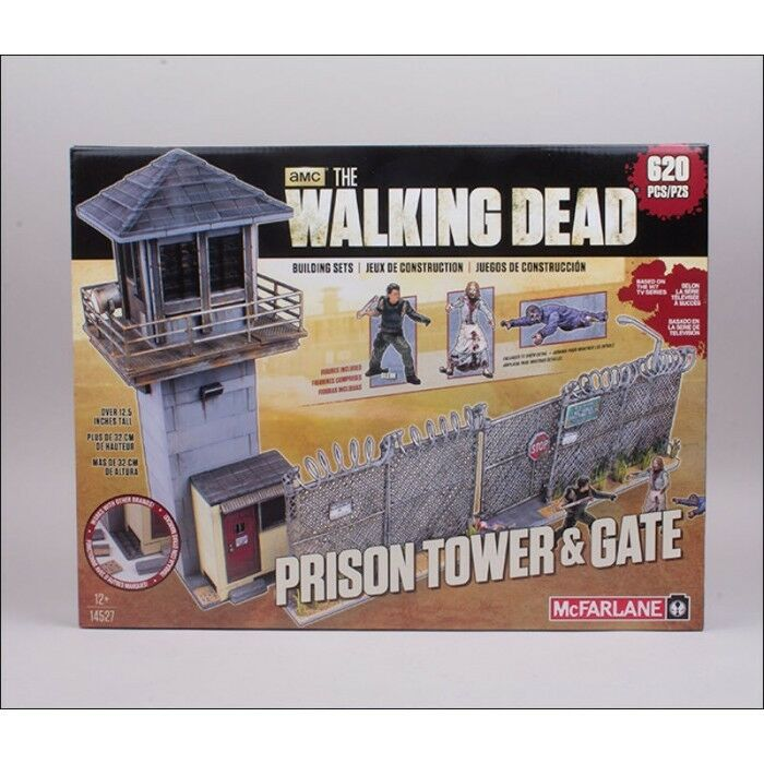McFarlane BUILDING SETS THE WALKING DEAD TV PRISON TOWER & GATE NEW NUOVO
