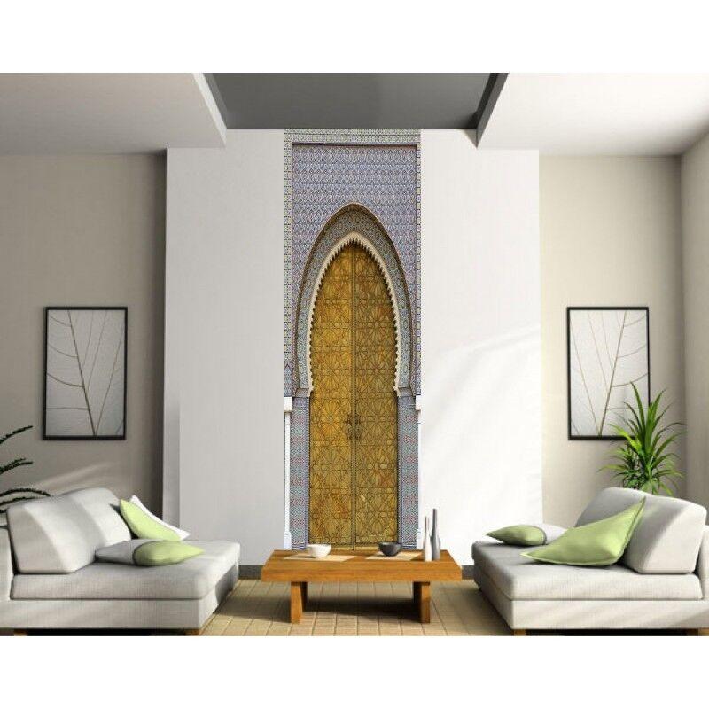 Adhesivo Gigante Trampantojo Ojo Puerta Oriental Mosaico 422
