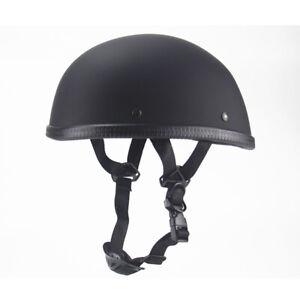 DOT Motorcycle Half Helmet Lightweight Skull Cap for Scooter Chopper Street Bike