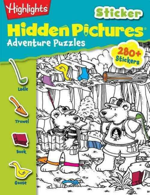 HIGHLIGHTS STICKER HIDDEN PICTURES ADVENTURE PUZZLES - HIGHL