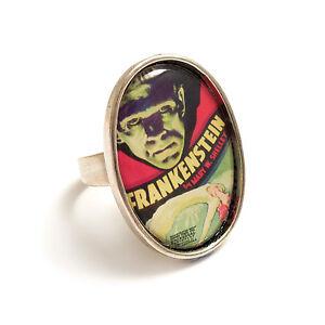 Frankenstein-ring-Frankenstein-039-s-monster-silver-adjustable-Boris-Karloff-gothic