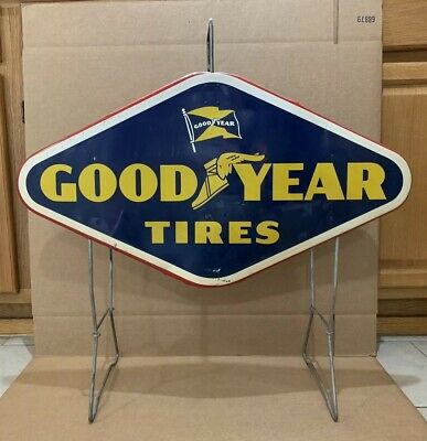 We Sell Delion Tires Vintage Inspired Distressed Metal Sign
