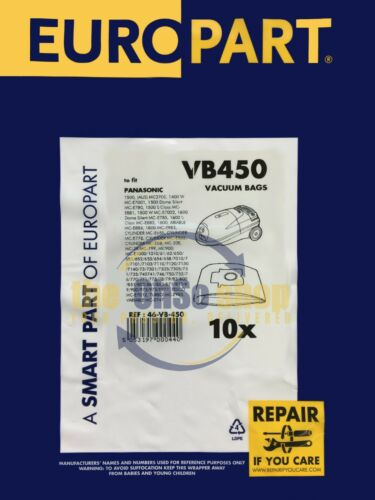 10 X Panasonic Aspirateur Sacs C20 type MC-E751 MC-E753 MC-E752 MC-E760