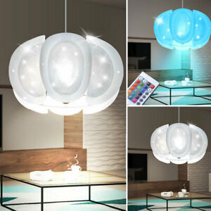 RGB LED Design Wand Leuchte Fernbedienung Decken Spot Dimmbar Haus Big Light