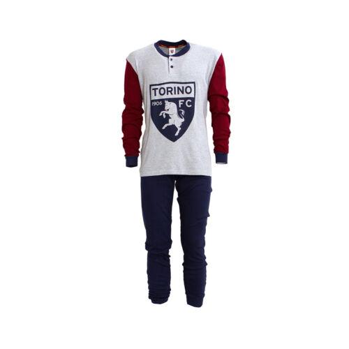 Pigiama ragazzo F.C Torino ufficiale Caldo cotone TO15095 Grigio Y122
